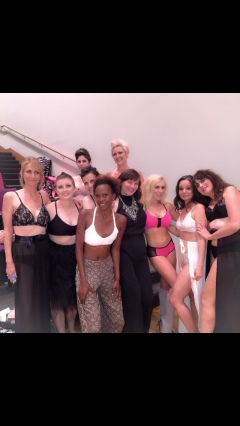 My fellow survivor models and designer, Dana Donofree (center- the beautiful survivor not wearing lingerie :-)